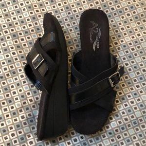 New Aerosoles A2 Heelrest Sandals Sz 8